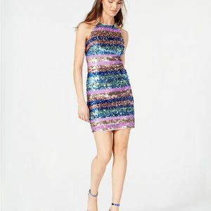 New Aidan Mattox Sequinned Bodycon Prom Party